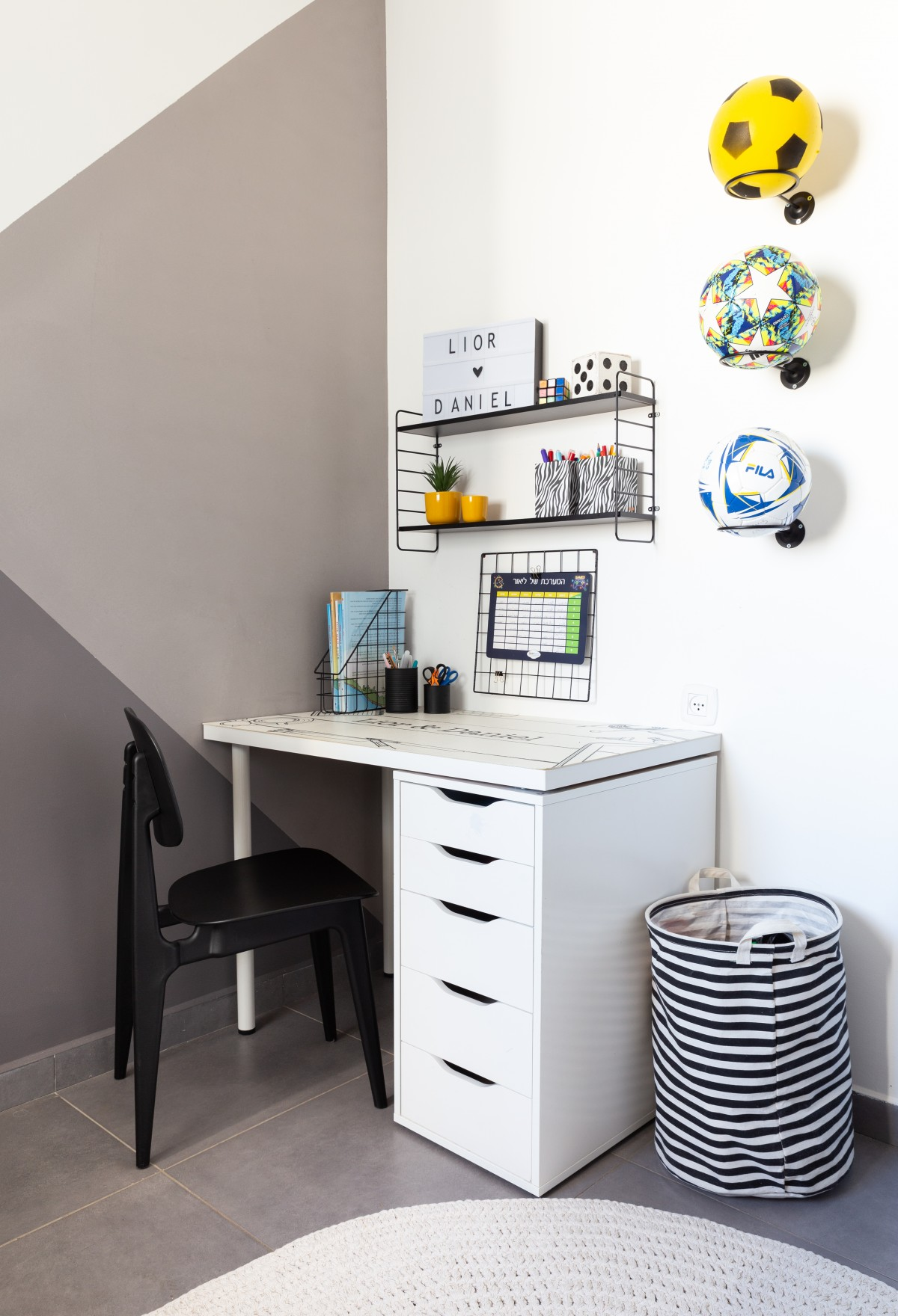 עיצוב חדר לבנים